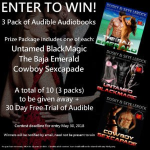 A total of 10 (3 packs) to be given away plus 30 Day Free Trial of Audible.