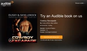 For a fleeting erotic moment in time whilst the codes last, listen to an Audible Audio Books free on us.